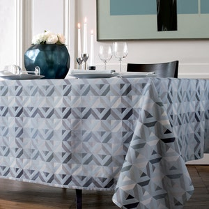 "Mille Twist Asphalte Tablecloth 61""x61"", 100% Cotton"