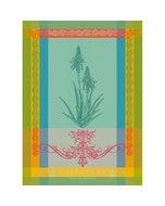 Aloe Vera Vert Jacquard Kitchen Towel Image