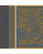 Anhinga Bleu Dore Jacquard Napkin, 100% Cotton Image
