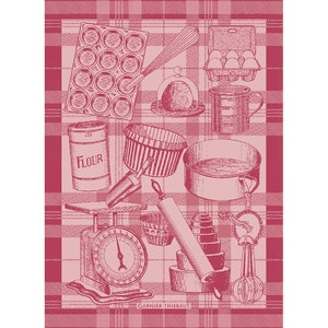 Bakery Red Jacquard Kitchen Towel