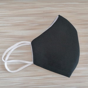 Black Washable protective mask GT9501 - 6pcs