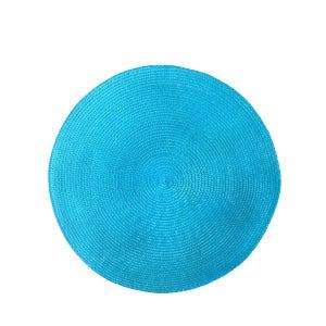 "Cascade Blue Vinyl Placemat 15"" Round"