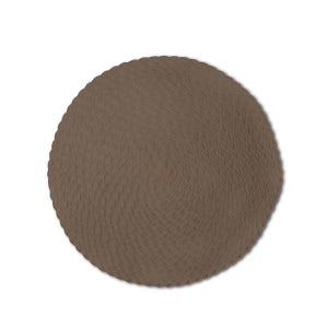 "Rosette Chocolate Braided Vinyl Placemat 15"" Round"