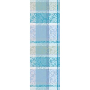 "Mille Dentelles Turquoise Tablerunner 71""x22"", 100% Cotton"