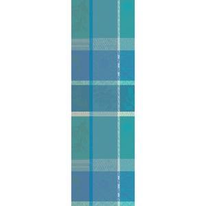"""Mille Gardenias Lagon Tablerunner 22""""x71"""", 100% Cotton"""