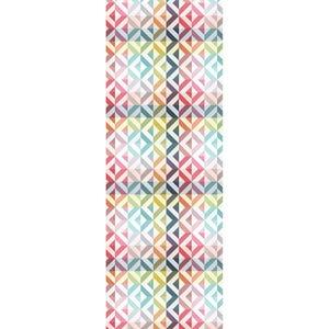 """Mille Twist Pastel Tablerunner 61""""x22"""", 100% Cotton"""