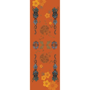 "Armonia Mandarine Tablerunner 20""x61"", 100% Cotton"