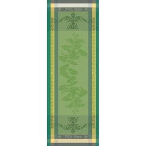 """Brin de The Vert Tablerunner 22""""x59"""", 100% Cotton"""