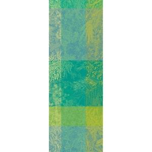 """Esprit Jardin Prairie Tablerunner 61""""x22"""", Green Sweet Stain-Resistant Organic Cotton"""