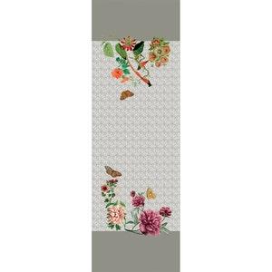 """Gaia Floralies Tablerunner 20""""x61"""", 100% Linen"""