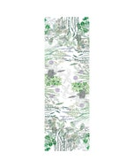 "Jardin Aromatique Floraison Tablerunner 20""x59"", Cotton-linen blend"