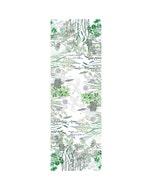 Jardin Aromatique Floraison Tablerunner, Cotton-linen blend
