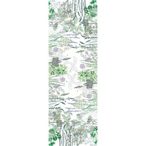 """Jardin Aromatique Floraison Tablerunner 20""""x59"""", Metis"""