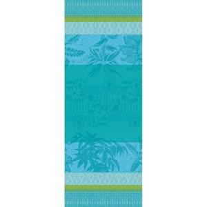 """Mille Alocasias Atoll Tablerunner 61""""x22"""", 100% Cotton"""