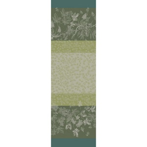 "Mille Automnes Mousse Tablerunner 71""x22"", 100% Cotton"