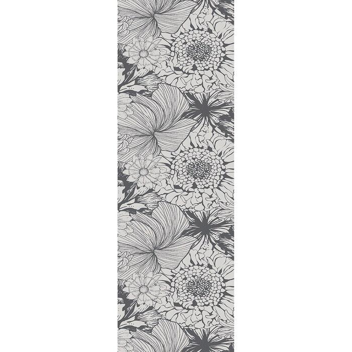 Mille Bloom Noir Tablerunner, Cotton-linen blend