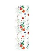 "Mille Coquelicots Floraison Tablerunner 20""x61"", 100% Organic Cotton"