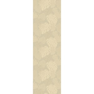 "Mille Evergreen Ficelle Tablerunner 61""x22"", 100% Cotton"