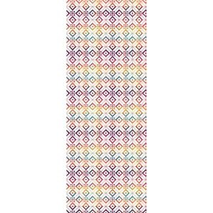 "Mille Paves Flamboyant Tablerunner 61""x22"", 100% Cotton"
