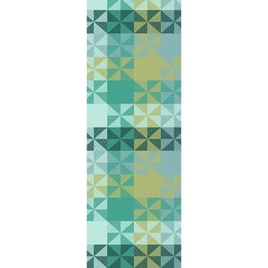 "Mille Quartz Emeraude Tablerunner 61""x22"", 100% Cotton"