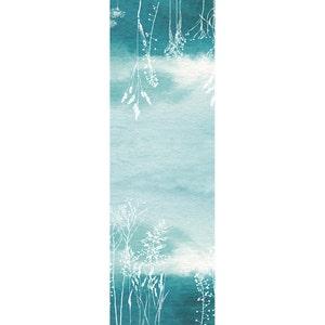 """Mille Silhouettes Indigo Tablerunner 20""""x61"""", Cotton-linen blend"""