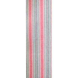 """Sombrilla Corail Tablerunner 20""""x61"""", 100% Linen"""