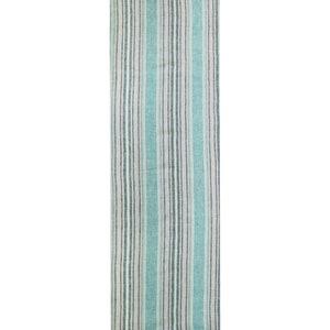 "Sombrilla Emeraude Tablerunner 20""x61"", 100% Linen"