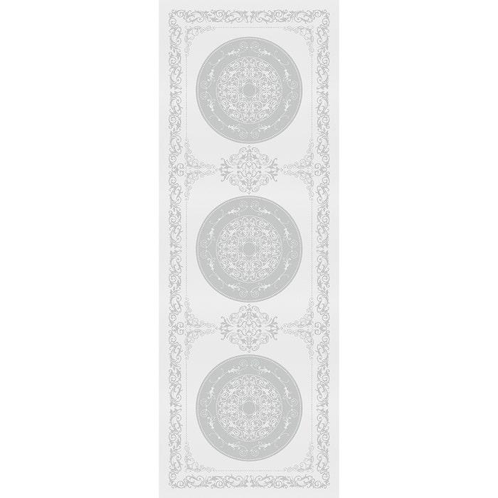 Comtesse Blanc Tablerunner, Stain Resistant Cotton