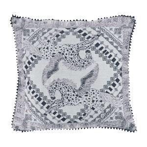 Cheval Aile Fusain Jacquard Cushion Cover Image