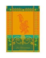 Clementines Safran Jacquard Kitchen Towel Image