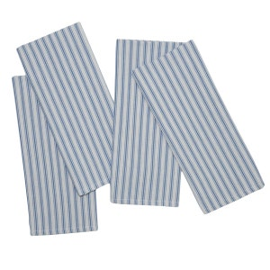 "Columni Blue Napkin 17""x27"", 100% Cotton, Set of 4"