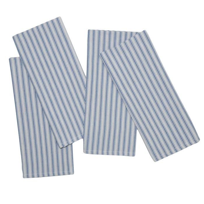 Columni Blue Napkin, 100% Cotton, Set of 4