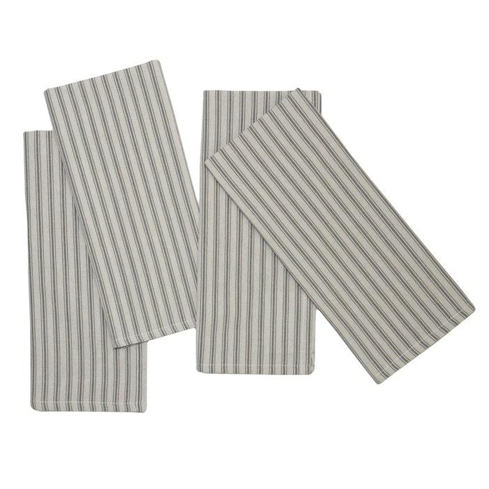 Columni Dark Grey Napkin, 100% Cotton, Set of 4