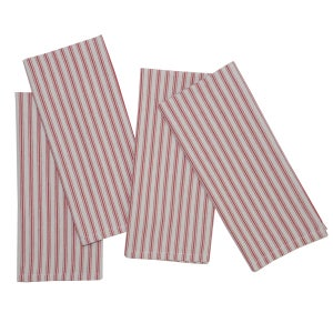 "Columni Red Napkin 17""x27"", 100% Cotton, Set of 4"