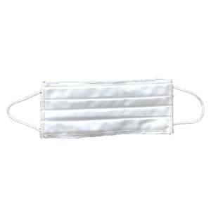Reusable Fabric Mask White, 100% Cotton