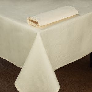 Overall Partridge Eye Ivory Tablecloth