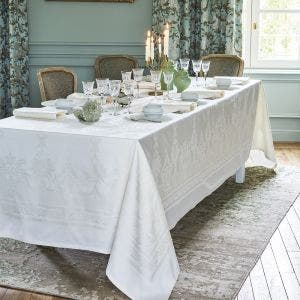 Beauregard White Tablecloth