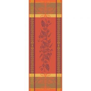 "Physalis Rust Tablerunner 22""x59"", 100% Cotton"