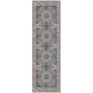 "Jodhpur Uni Noir Tablerunner 22""x71"", Green Sweet Stain-resistant Cotton"
