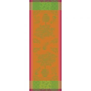 "Mandarinier en Pot Orange Tablerunner 22""x59"", 100% Cotton"