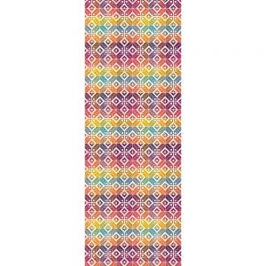 "Mille Paves Multicolore Tablerunner 61""x22"", 100% Cotton"