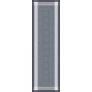 """Roma Ardoise Tablerunner 21""""x71"""", Green Sweet Stain-resistant Cotton, High Thread Count, Mitered corners"""