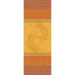"""Shambala Epices Tablerunner 61""""x20"""", Green Sweet Stain-resistant Cotton"""