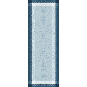 "Bagatelle Flanelle Tablerunner, Size:20""X106"", Green Sweet Stain Resistant Cotton"
