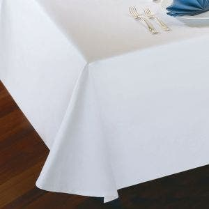 Plain Satin Cottonrich White Tablecloth