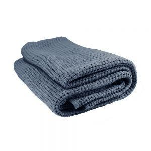 Santorin Bleu Jean Bed Throw