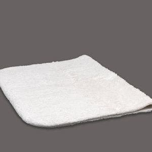 Dell White Bath Rug