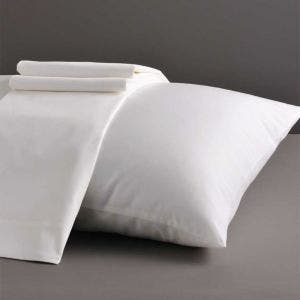 Nice Sateen White Pillowcases Set, 300 thread count