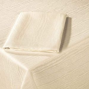 "Elm Crossbordered Ivory 63""x63"" Tablecloth"