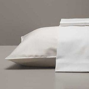 Georgetown Polycotton Sateen White Pillowcases Set, 300 thread count